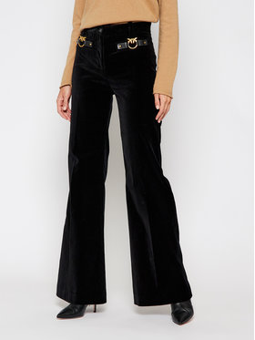 Pinko Pinko Kalhoty z materiálu Apus 20202 PBK2 1B14NX.8317 Černá Regular Fit