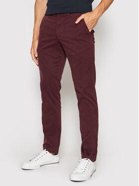 Tommy Hilfiger Tommy Hilfiger Spodnie materiałowe Blecker MW0MW13846 Bordowy Slim Fit
