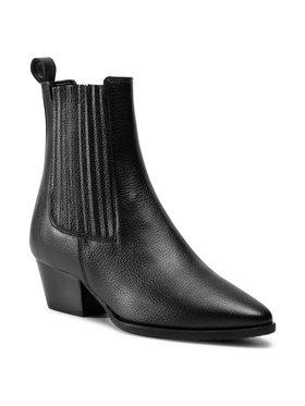 Pollini Pollini Kotníková obuv s elastickým prvkem SA24086G1BTR0000 Černá