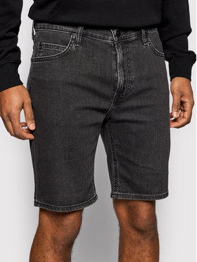 Lee Lee Pantaloncini di jeans Rider L73FNPQH Nero Slim Fit