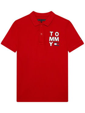 Tommy Hilfiger Tommy Hilfiger Polohemd Graphic KB0KB05430 D Rot Regular Fit