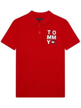 Tommy Hilfiger Tommy Hilfiger Tricou polo Graphic KB0KB05430 D Roșu Regular Fit