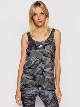 adidas adidas Marškinėliai Designed 2 Move Camouflage GL3779 Pilka Regular Fit
