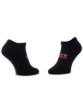 Levi's® Levi's® Sada 2 párů nízkých ponožek unisex 37157-0165 Černá