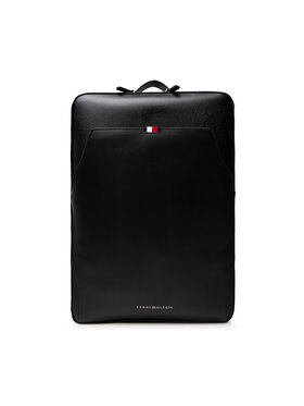 Tommy Hilfiger Tommy Hilfiger Kuprinė Business Leather Backpack AM0AM07550 Juoda