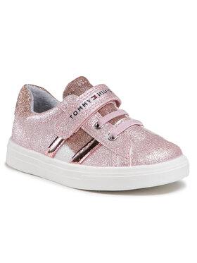 Tommy Hilfiger Tommy Hilfiger Sneakersy Low Cut Lace-Up T1A4-31014-1160 S Różowy