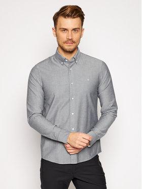 Calvin Klein Calvin Klein Koszula Oxford K10K105280 Szary Slim Fit