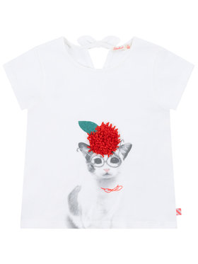 Billieblush Billieblush T-shirt U15728 Bianco Regular Fit