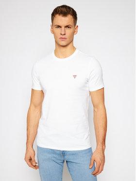 Guess Guess T-Shirt M1RI36 I3Z11 Bílá Slim Fit