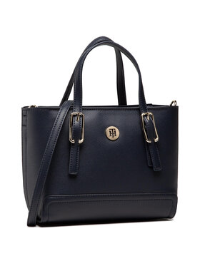 Tommy Hilfiger Tommy Hilfiger Torbica Honey Small Tote AW0AW09656 Tamnoplava