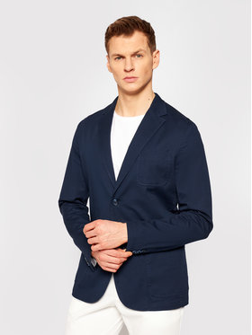 Guess Guess Švarkas M1GN09 WDUX1 Tamsiai mėlyna Slim Fit