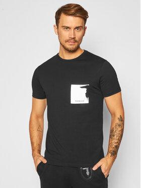 Trussardi Jeans Trussardi Jeans Tricou 52T00378 Negru Regular Fit