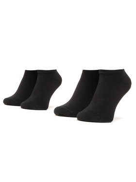 Tommy Hilfiger Tommy Hilfiger Σετ 2 ζευγάρια κοντές κάλτσες unisex 301390 Μαύρο