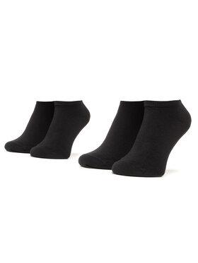Tommy Hilfiger Tommy Hilfiger Unisex trumpų kojinių komplektas (2 poros) 301390 Juoda