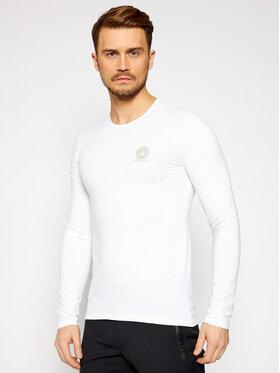 Versace Versace Marškinėliai ilgomis rankovėmis Girocollo AUU01007 Balta Regular Fit