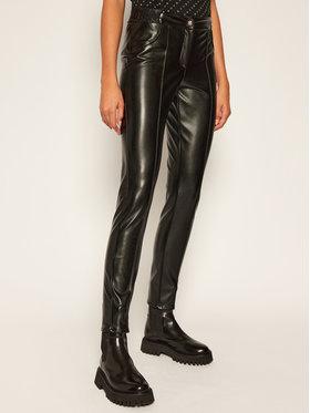 John Richmond John Richmond Kožené kalhoty Merten RWA20234PA Černá Slim Fit
