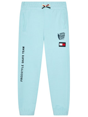 Tommy Hilfiger Tommy Hilfiger Teplákové nohavice Graphic KB0KB06584 D Modrá Regular Fit
