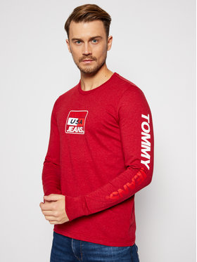 Tommy Jeans Tommy Jeans Longsleeve Usa Tee DM0DM08787 Rosso Regular Fit