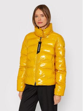 Pinko Pinko Pernata jakna Micro 1G16KU Y767 Žuta Regular Fit
