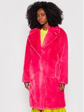 TWINSET TWINSET Кожено палто 212AP219A Розов Relaxed Fit