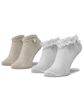 Mayoral Mayoral Set di 2 paia di calzini lunghi da bambini 10738 Bianco