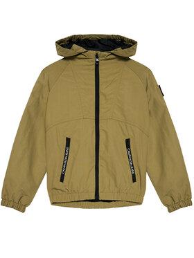 Calvin Klein Jeans Calvin Klein Jeans Átmeneti kabát Monogram Badge IB0IB00856 Zöld Regular Fit