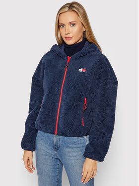 Tommy Jeans Tommy Jeans Giacca di transizione Tjw Sherpa DW0DW11093 Blu scuro Relaxed Fit