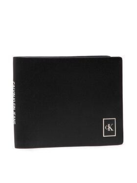 Calvin Klein Jeans Calvin Klein Jeans Голям мъжки портфейл Billfold W/Coin K50K506965 Черен
