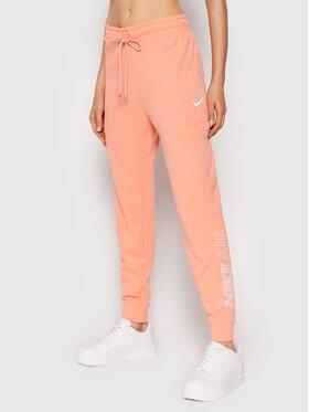 Nike Nike Teplákové nohavice Fleece CZ8626 Oranžová Regular Fit