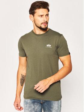 Alpha Industries Alpha Industries T-Shirt Basic 188505 Zielony Regular Fit