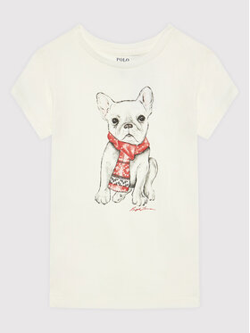 Polo Ralph Lauren Polo Ralph Lauren T-Shirt 312853363001 Biały Regular Fit