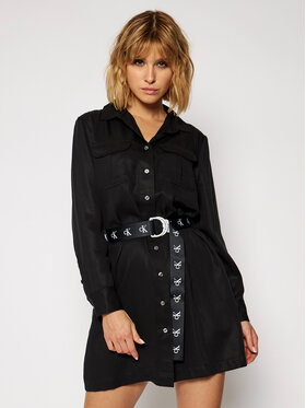 Calvin Klein Jeans Calvin Klein Jeans Sukienka koszulowa Utility J20J214872 Czarny Regular Fit