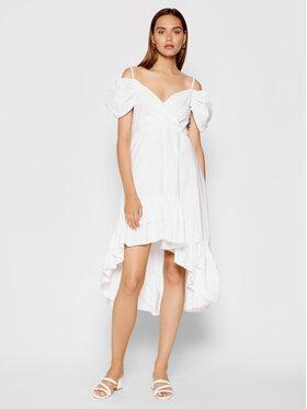 Rinascimento Rinascimento Коктейлна рокля CFC0103591003 Бял Regular Fit