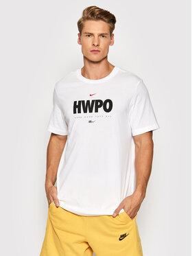 Nike Nike Tričko Hwpo DA1594 Biela Standard Fit
