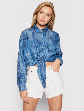 Guess Guess cămașă de blugi Betty W1GH30 D4D23 Albastru Loose FIt