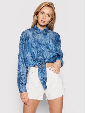 Guess Guess džínsová košeľa Betty W1GH30 D4D23 Modrá Loose FIt