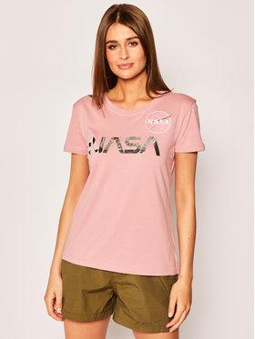 Alpha Industries Alpha Industries T-Shirt Nasa Pm 198053 Różowy Regular Fit