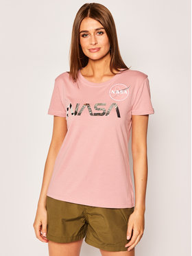 Alpha Industries Alpha Industries T-Shirt Nasa Pm 198053 Růžová Regular Fit