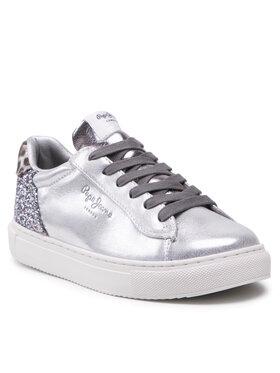 Pepe Jeans Pepe Jeans Sneakersy Adams 2.0 Girls Met PGS30523 Stříbrná