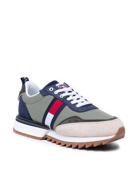 Tommy Jeans Tommy Jeans Sneakersy Abo Cleated Tommy Jeans Snk Men EM0EM00856 Zelená