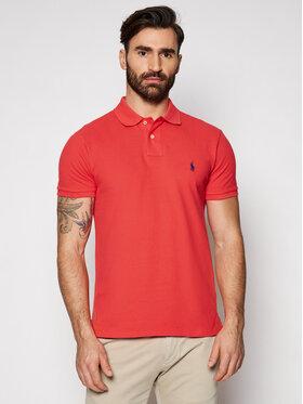 Polo Ralph Lauren Polo Ralph Lauren Тениска с яка и копчета 710536856274 Червен Slim Fit