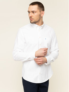 Marc O'Polo Marc O'Polo Риза 020 7501 42494 Бял Shaped Fit