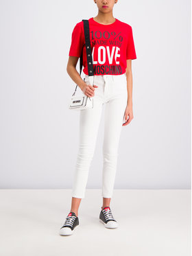 LOVE MOSCHINO LOVE MOSCHINO Póló W4F151IM 3517 Piros Regular Fit