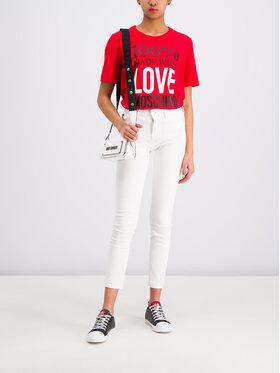 LOVE MOSCHINO LOVE MOSCHINO T-Shirt W4F151IM 3517 Czerwony Regular Fit
