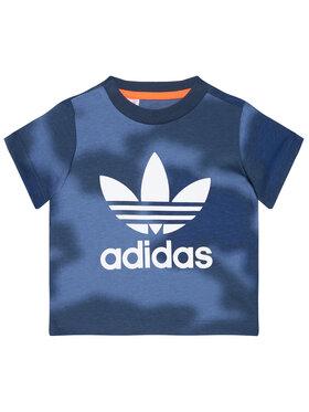 adidas adidas T-Shirt Allover Print Camo GN4116 Granatowy Regular Fit