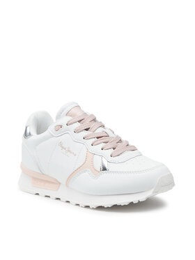 Pepe Jeans Pepe Jeans Sneakers Britt College Girls PGS30503 Weiß