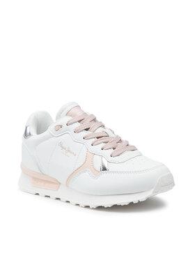 Pepe Jeans Pepe Jeans Sneakersy Britt College Girls PGS30503 Biela