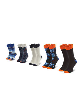 Jack&Jones Jack&Jones Sada 5 párů vysokých ponožek unisex Jacblueis 12185893 Barevná