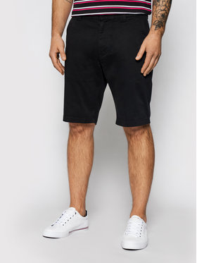 Tommy Jeans Tommy Jeans Bavlnené šortky Scanton DM0DM11076 Čierna Slim Fit