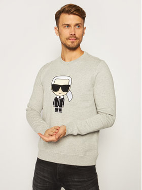 KARL LAGERFELD KARL LAGERFELD Sweatshirt Sweat 705040 502950 Gris Regular Fit